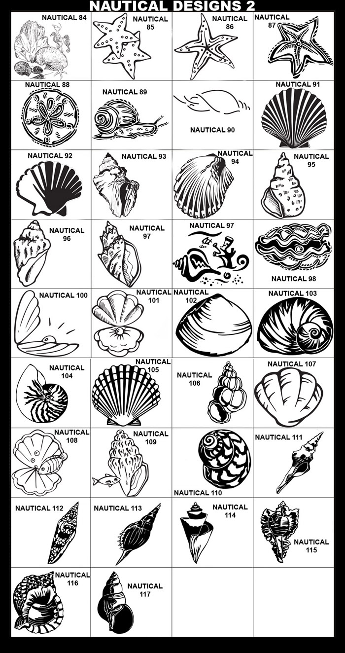 Seashells, Starfish, Sand Dollar, Snail, Under the Sea, Clam, Oyster, Pearl, Moon Shell, Nautilus, Seashell, Scallop, Wentle Trap, Bednall's Volute, Distaff Spindle, Glory of India Cone, Martinis Tibia, Miraculous Thatcher, Murex Peeve, Pacific Triton, Whelkl