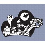 Halloween Design Plastic Sign