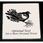 Custom Engraved Bird Design Ceramic Tile