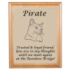 Alder Pet Memorial Plaque & Plate w/ Cat Design